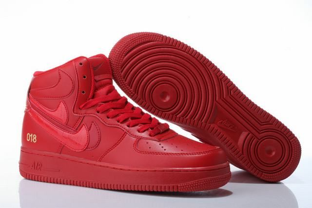 air force 1 rouge montante