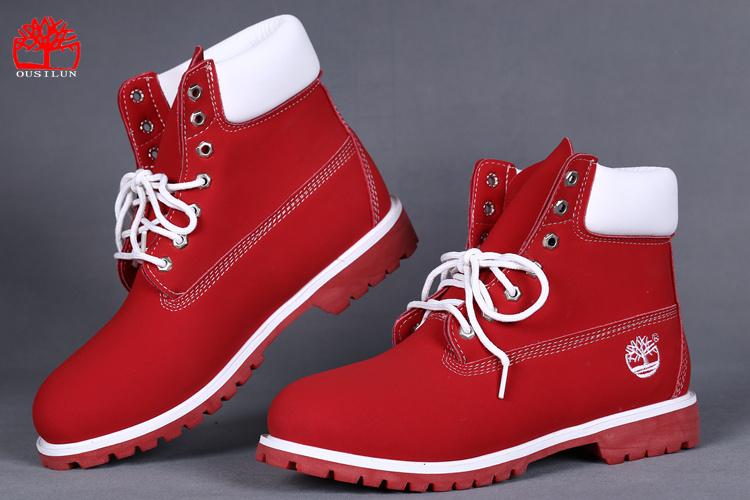 Un rétro pour le chaussure timberland femme rouge Rose